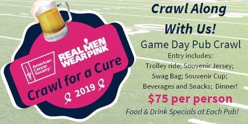 Real Men Wear Pink Crawl for a Cure