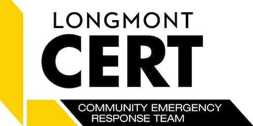 LONGMONT CERT Basic Training Class - Start Date August 20, 2019