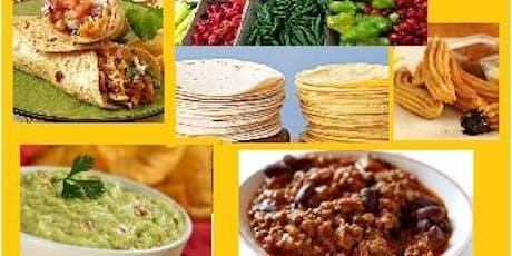 22/08 Culinária Mexicana, 19h às 22h30 - R$195,00 ingressos