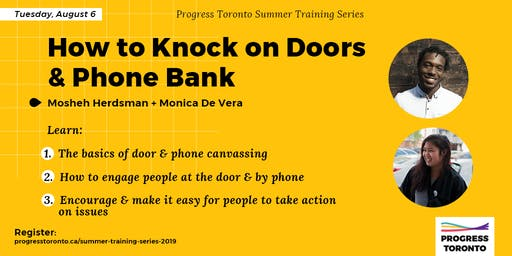 Summer Training Series: How to Knock on Doors & Phone Bank