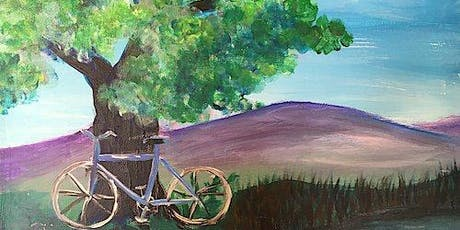 """""""Bike by the Lake"""" Acrylic Painting Class 8/28 tickets"""