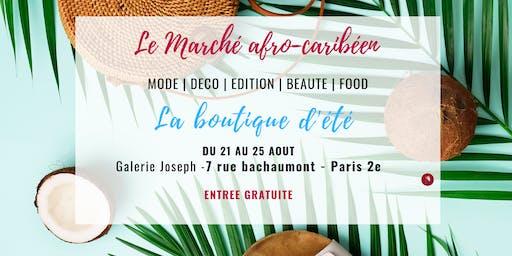 La boutique d'été du marché Afro-caribéen (Paris)