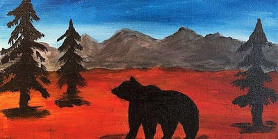"""Bear Mountain"" Acrylic Painting Class 8/29"
