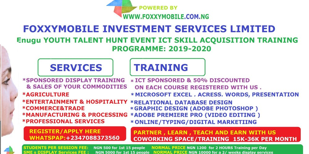 Foxxymobile ICT Skill Acquisition Training Programme Tickets, Sat