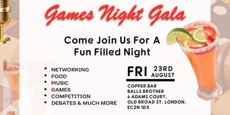Games Night Gala tickets