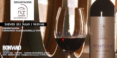 Degustación de los vinos de Cavas La Capilla  entradas