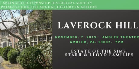 Laverock Hill ~ Estate of the Sims, Starr & Lloyd Families tickets