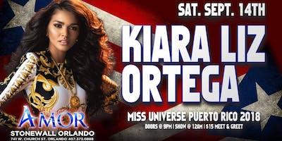 Kiara Liz Ortega Miss Universe Puerto Rico 2018 Live at Stonewall