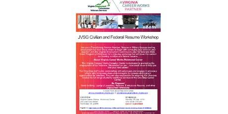 JVSG Civilian and Federal Resume Workshop tickets