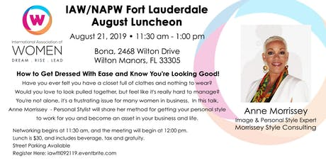 IAW Fort Lauderdale August 21 Luncheon tickets