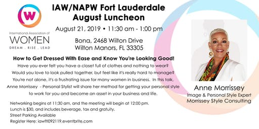 IAW Fort Lauderdale August 21 Luncheon