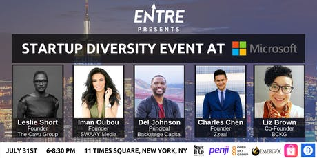 Startup and Entrepreneur Diversity Event at Microsoft  tickets