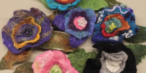Wet Felted Bitty Blossoms - Beginner Level