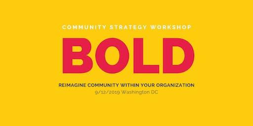 BOLD –a Community Strategy Workshop by Association Chat