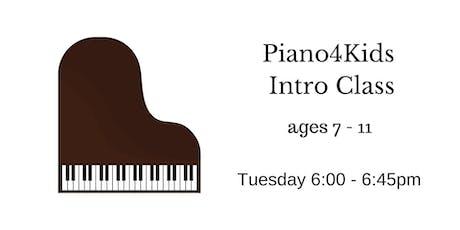 Piano4Kids Trial Class tickets