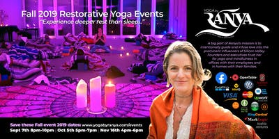 September Yoga by Ranya Restorative Yoga & Reiki Healing Event