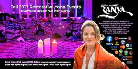 September Yoga by Ranya Restorative Yoga & Sound Healing tickets