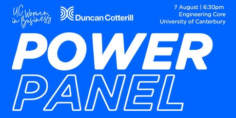 UC Women in Business x Duncan Cotterill: POWER PANEL tickets