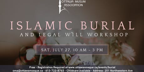 Islamic Burial and Legal Will Workshop tickets