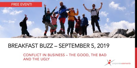 September Breakfast Buzz: Conflict in business – the good, the bad and the ugly tickets