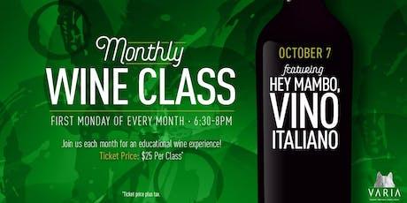 Hey Mambo, Vino Italiano - Wine Workshop tickets