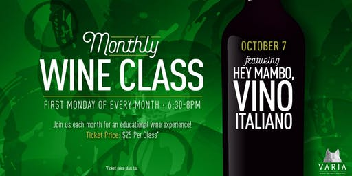 Hey Mambo, Vino Italiano - Wine Workshop