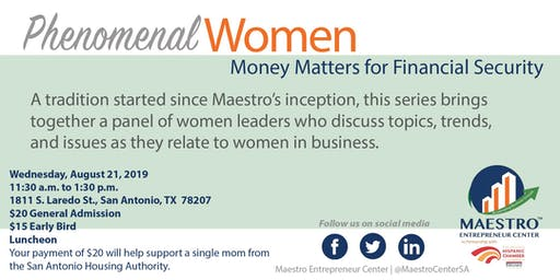 Phenomenal Women: Money Matters
