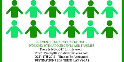 CE Event - Foundations of DBT, Working with Adolescents and their Families