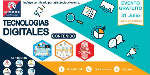 TECNOLOGÍAS DIGITALES: Marketing Digital, Blockchain y Perú Digital. Blockt