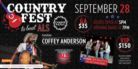 COUNTRY FEST TO BEAT ALS with Coffey Anderson! tickets