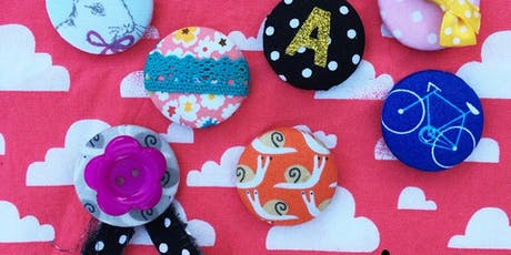 Make covered button badges and bobbles with Danielle from Tinybeegle  tickets