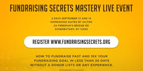 Fundraising Secrets Mastery Live Event  tickets