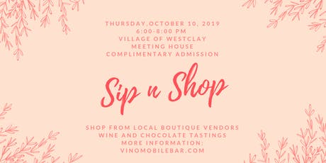 Annual Fall Sip n Shop Boutique Event tickets