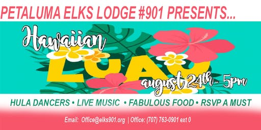 Hawaiian Luau - Petaluma Elks #901 Style - Adult