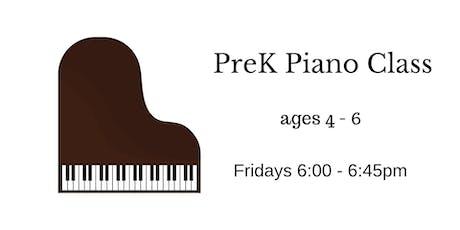 PreK Piano Trial Class tickets