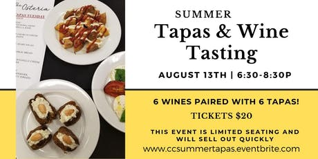 Summer Tapas & Wine Tasting tickets