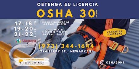 CLASE DE OSHA 30 EN ESPANOL - $ 350 tickets