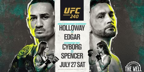 UFC 240 Featherweight Title Fight - Holloway vs Edgar tickets