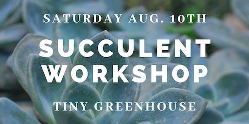 Succulent Terrarium Workshop