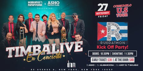 Timbalive en Concierto Exclusivo! Ruedathon Kick Off Party & Concert!  tickets