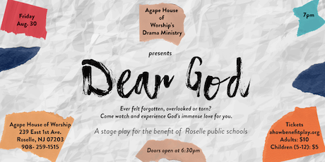 Dear God- Benefit Stage Play tickets