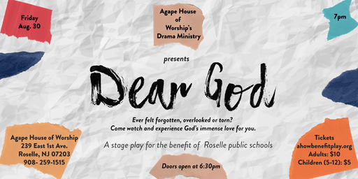 Dear God- Benefit Stage Play