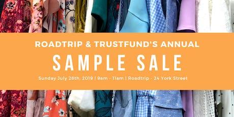Roadtrip & Trustfund's Annual Sample Sale! tickets