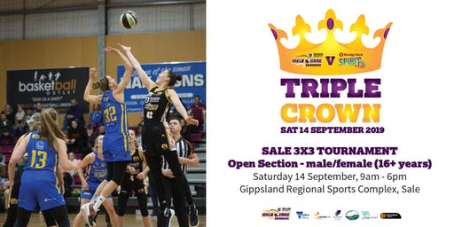 Triple Crown 3x3 Basketball Tournament - Open Section (male & female)