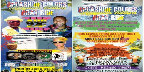 Splash of Colors Boat Ride tickets