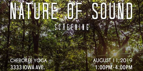 'Nature of Sound' Screening tickets