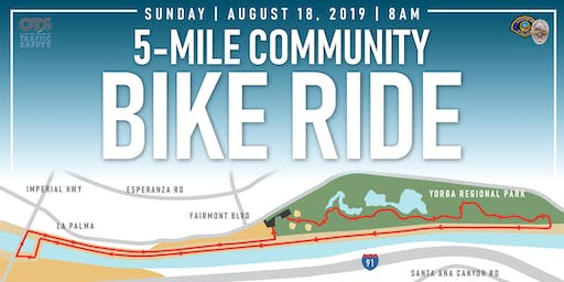 5-Mile Community Bike Ride [with Anaheim PD Officers!]