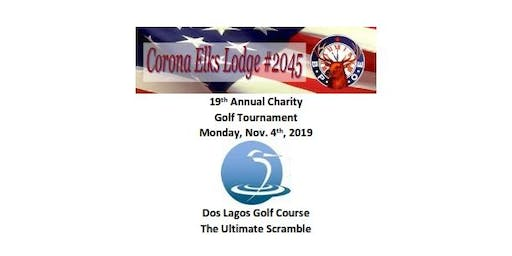 19th Annual, Corona Elks lodge #2045 Golf Tournament