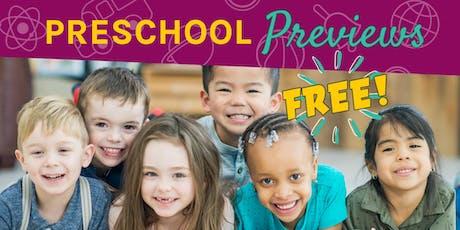 Northshore Preschool Preview- RSVP tickets