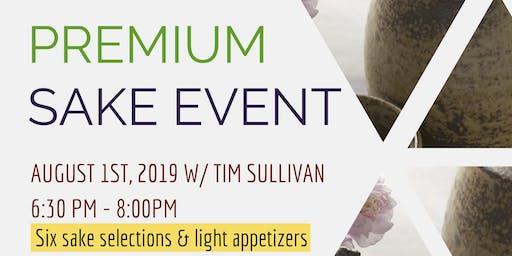 Premium Sake Tasting and Seminar ($30.00)